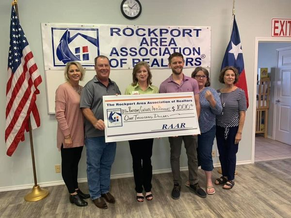 RCAD Receives Donation from Rockport Realtors Association